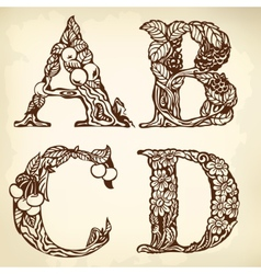 Set of letters ABCD vector
