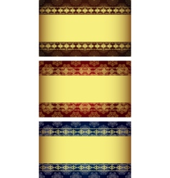 Set of vintage gold-framed labels vector