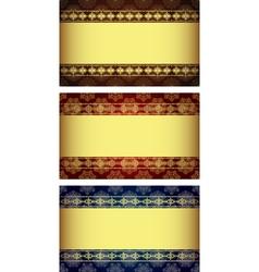 Set vintage gold-framed labels vector