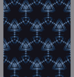 Shibori tie dye indigo blue texture background vector
