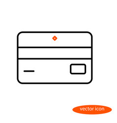 Simple linear image of bank card or vector