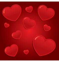simple valentines hearts background il vector image