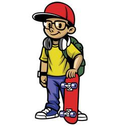 Skater boy pose vector