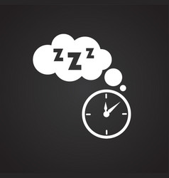 sleep time on black background vector image