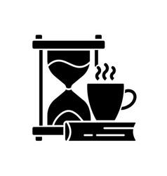 Slow living black glyph icon vector