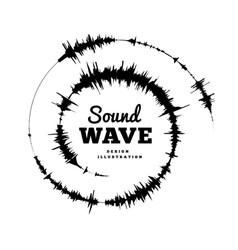 sound wave spiral form on vector image