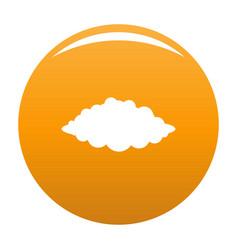 Storm icon orange vector