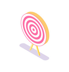 target icon isolated accuracy concept vector image