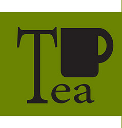 Tea tag vector