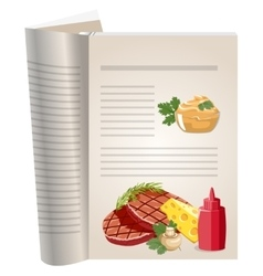 Template pages of a cookbook vector image