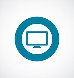tv icon bold blue circle border vector image