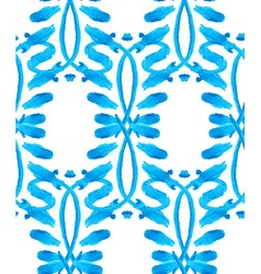 Watercolor Gzhel pattern vector