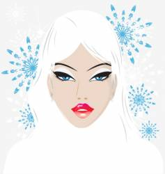 Winter babe vector