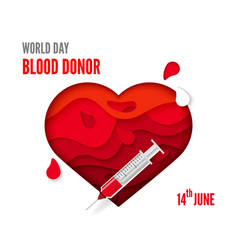world blood donor day posters or invitations vector image