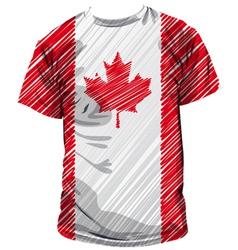 Canadian tee vector image