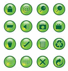 glossy webbuttons vector image vector image
