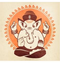Indian god ganesha on a beige background vector