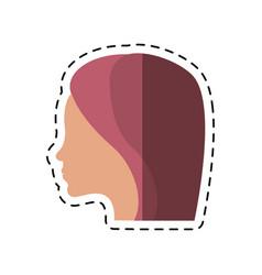cartoon women day profile girl icon vector image