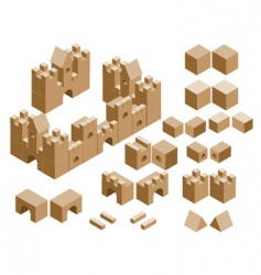 castles built with cubes vector image