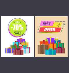 big sale best offer advert vector image vector image