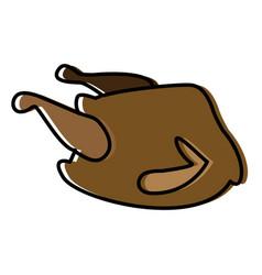 chicken food symbol vector image