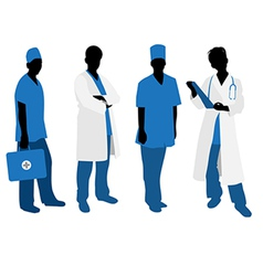 doctors silhouettes vector image vector image