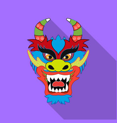 Dragon icon in flat style isolated on white vector