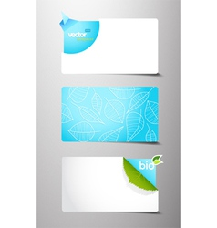 abstract gift cards vector image