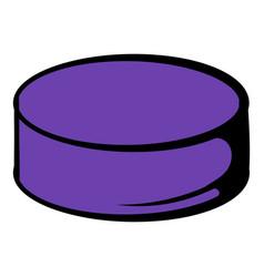 hockey puck icon icon cartoon vector image vector image