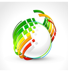 Abstract energy icon vector image