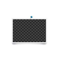 album blank photo horizontal frame pinned to white vector image