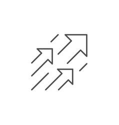 Arrows or move forward line icon vector