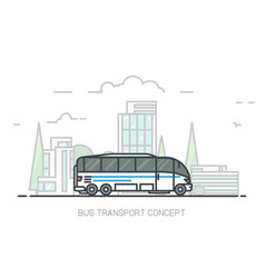big city bus vector image