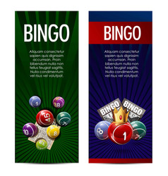 Bingo lotto lottery banners template vector