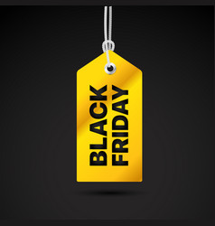 black friday label black friday sale tag vector image
