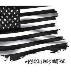 black lives matter banner background vector image