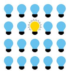 Bulb lights design vector