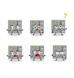 Cartoon character among us task machine vector