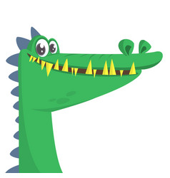 cartoon cool crocodile smiling vector image