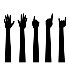Cartoon Hands with Gestures2 vector