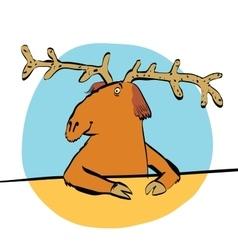Christmas reindeer or moose vector image