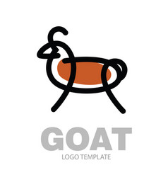 Color stylized drawing goat or nanny-goat vector