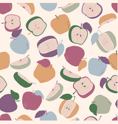 colorful apples seamless pattern vector image