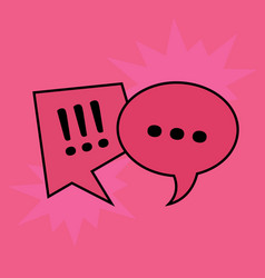 communication speech bubbles on red background vector image