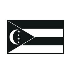 Comoros flag icon vector
