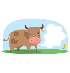 cow in the field vector image