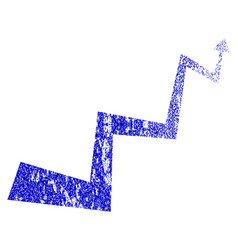 Curve arrow grunge textured icon vector