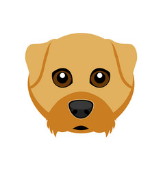 Cute airedale terrier dog avatar vector