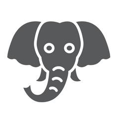 elephant glyph icon animal and zoo vector image
