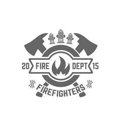 Fire department monochrome emblem vector